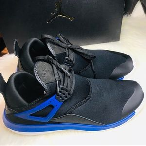 Nike Jordan Fly 89 Black and Blue Lunarlon Shoes